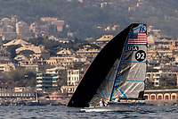 Genoa, Italy is hosting sailors for the third regatta of the 2019 Hempel World Cup Series from 15-21 April 2019. More than 700 competitors from 60 nations are racing across eight Olympic Events. ©PEDRO MARTINEZ/SAILING ENERGY/WORLD SAILING<br /> 16 April, 2019.
