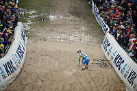 Superprestige Zonhoven 2013<br /> <br /> Thijs Van Amerongen (NLD) crashing