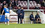 Arbroath v St Johnstone…15.08.21  Gayfield Park      Premier Sports Cup<br />Saints boss Callum Davidson<br />Picture by Graeme Hart.<br />Copyright Perthshire Picture Agency<br />Tel: 01738 623350  Mobile: 07990 594431