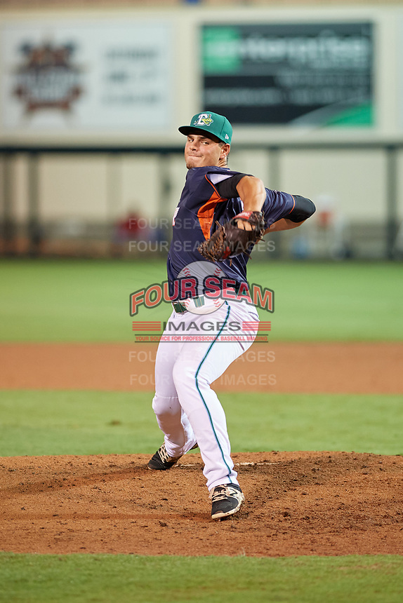 Daytona Tortugas pitcher Tanner Rainey (33) during the Florida State League All-Star Game on June 17, 2017 at Joker Marchant Stadium in Lakeland, Florida.  FSL North All-Stars defeated the FSL South All-Stars  5-2.  (Mike Janes/Four Seam Images)