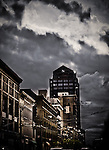 Storm Clouds at rush hour, 3rd St, Dayton Ohio