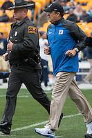 Duke head football coach David Cutcliffe. The Duke Blue Devils defeated the Pitt Panthers 51-48 at Heinz Field, Pittsburgh Pennsylvania on November 1, 2014.