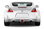 Straight rear view of 2017 Nissan 370Z-Coupe NISMO-6M/T 2 Door Coupe Rear View  stock images