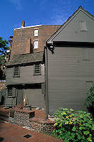 Boston Massachusetts MA USA Paul Revere Famous House 1770 restored in Boston.
