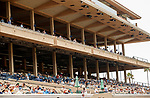DEL MAR, CA  AUGUST 21: Early on Pacific Classic Day and the crowds are arriving    (Photo by Casey Phillips/Eclipse Sportswire/CSM)