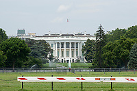 The White House stands in Washington D.C., U.S., on Tuesday, June 23, 2020.  Trump tweeted that he authorized the Federal government to arrest any demonstrator caught vandalizing U.S. monuments, with a punishment of up to 10 years in prison.  Credit: Stefani Reynolds / CNP/AdMedia