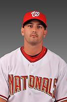14 March 2008: ..Portrait of Daniel Foli, Washington Nationals Minor League player at Spring Training Camp 2008..Mandatory Photo Credit: Ed Wolfstein Photo