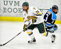 30 January 2010: University of Vermont Catamount forward Tobias Nilsson-Roos, a Freshman from Malmo, Sweden, in action against the University of Maine Black Bears at Gutterson Fieldhouse in Burlington, Vermont. The Maine Black Bears and the Catamounts played to a 4-4 tie in the second game of their America East weekend series. Mandatory Credit: Ed Wolfstein Photo