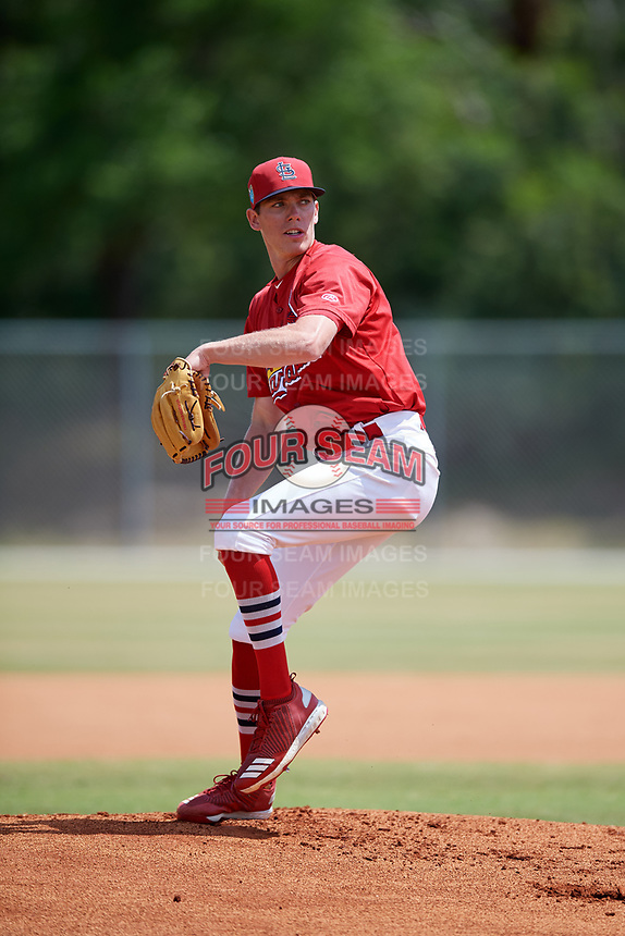 St. Louis Cardinals pitcher Kevin Hamann (18) during a Minor League Spring Training game against the Miami Marlins on March 26, 2018 at the Roger Dean Stadium Complex in Jupiter, Florida.  (Mike Janes/Four Seam Images)