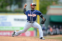 New Hampshire Fisher Cats pitcher Marcus Stroman #6 during a game against the Erie Seawolves on June 9, 2013 at Jerry Uht Park in Erie, Pennsylvania.  New Hampshire defeated Erie 3-2.  (Mike Janes/Four Seam Images)