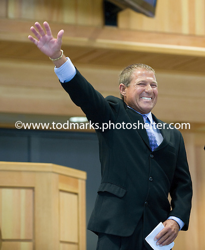 New Hall of Famer Randy Romero salutes the crowd.
