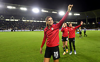 Carson, CA - November 13, 2016: The U.S. Women's National team go to defeat Romania 5-0 with Alex Morgan contributing a goal in an international friendly game at StubHub Center.