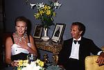 MARIA GABRIELLA DI SAVOIA CON IL MARITO  ROBERT DE BALKANY <br /> DICIOTTESIMO COMPLEANNO DI ELISABETTA DE BALKANY<br /> PALAZZO VOLPI VENEZIA AGOSTO 1990