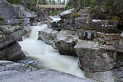 Upper Ammonoosuc Falls, which are located on the Ammonoosuc River in Crawford's Purchase in the New Hampshire White Mountains during the spring months.