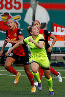 Rochester, NY - Saturday July 09, 2016: Seattle Reign FC midfielder Kim Little (8) during a regular season National Women's Soccer League (NWSL) match between the Western New York Flash and the Seattle Reign FC at Frontier Field.
