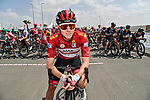 Race leader Tadej Pogacar (SLO) UAE Team Emirates lines up for the start of Stage 6 of the 2021 UAE Tour running 165km from Deira Island to Palm Jumeirah, Dubai, UAE. 26th February 2021.<br /> Picture: LaPresse/Gian Mattia D'Alberto   Cyclefile<br /> <br /> All photos usage must carry mandatory copyright credit (© Cyclefile   LaPresse/Gian Mattia D'Alberto)