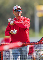 15 March 2016: Washington Nationals Bullpen Catcher Octavio Martinez tosses batting practice prior to a Spring Training pre-season game against the Houston Astros at Osceola County Stadium in Kissimmee, Florida. The Nationals defeated the Astros 6-4 in Grapefruit League play. Mandatory Credit: Ed Wolfstein Photo *** RAW (NEF) Image File Available ***