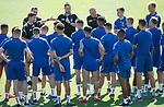 18.06.18 Steven Gerrard, Tom Culshaw, Michael Beale and Gary McAllister team talk