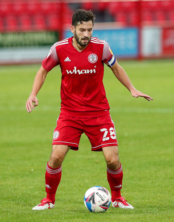Accrington Stanley's Seamus Conneely<br /> <br /> Photographer Alex Dodd/CameraSport<br /> <br /> EFL Trophy Northern Section Group G - Accrington Stanley v Leeds United U21 - Tuesday 8th September 2020 - Crown Ground - Accrington<br />  <br /> World Copyright © 2020 CameraSport. All rights reserved. 43 Linden Ave. Countesthorpe. Leicester. England. LE8 5PG - Tel: +44 (0) 116 277 4147 - admin@camerasport.com - www.camerasport.com
