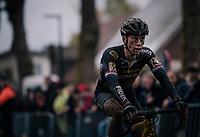 Lars van der Haar (NED/Telenet Fidea Lions) post-finish<br /> <br /> men's race<br /> Soudal Jaarmarktcross Niel 2018 (BEL)