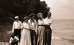 North East PA: Stewart Family Photograph, Peppy, Brady, Homer Sr, Alice Brady, Helen, Homer Jr, and Aunt Maggie, by Clark Stewart.  During the early 1900s, the Stewart family vacationed on Lake Erie near North East Pennsylvania. Since hotels and motels were non-existent, camping was the only viable option for a large number of vacationers