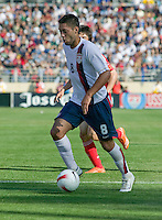 Clint Dempsey dribbles. The USA defeated China, 4-1, in an international friendly at Spartan Stadium, San Jose, CA on June 2, 2007.