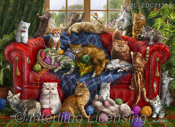 Marcello, REALISTIC ANIMALS, REALISTISCHE TIERE, ANIMALES REALISTICOS, paintings+++++,ITMCEDC1131A,#a#, EVERYDAY ,puzzle,puzzles
