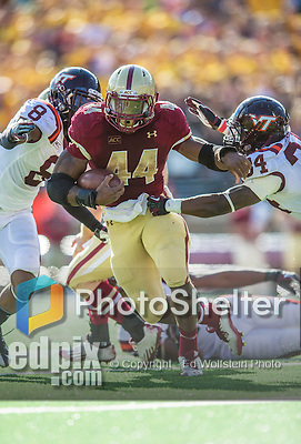 2 November 2013: Boston College Eagles running back Andre Williams (44) breaks tackles in the third quarter against the Virginia Tech Hokies at Alumni Stadium in Chestnut Hill, MA. The Eagles defeated the Hokies 34-27. Mandatory Credit: Ed Wolfstein-USA TODAY Sports *** RAW (NEF) Image File Available ***