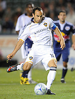 Los Angeles Galaxy's Landon Donovan scores on a PK during a game against New York Red Bull at the Home Depot Center on Saturday, May 2, 2009, in Carson, California. .