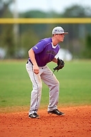 Wisconsin-Whitewater Warhawks shortstop Jordan Kuczynski (3) during a game against the St. Thomas Tommies on March 27, 2016 at Lake Myrtle Park in Auburndale, Florida.  Wisconsin-Whitewater defeated St. Thomas 13-1.  (Mike Janes/Four Seam Images)