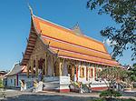 The main temple at Wat Nong Sikhounmuang, a Buddhist temple and monastery in Luang Prabang, Laos