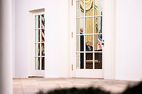 President Trump Travels to Georgia<br /> <br /> President Donald J. Trump speaks with Vice President Mike Pence in the Oval Office of the White House Tuesday, Jan. 4, 2021, prior to leaving for his trip to Georgia. (Official White House Photo by Joyce N. Boghosian)