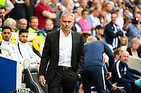Jose Mourinho Manager of Manchester United  during the Premier League match between Brighton and Hove Albion and Manchester United at the American Express Community Stadium, Brighton and Hove, England on 19 August 2018. Photo by Edward Thomas / PRiME Media Images.