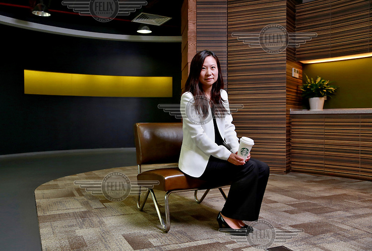 Belinda Wong, chief executive officer of Starbucks (China) Company Limited, at the company's offices in Shanghai. Starbucks now has over 4000 outlets in China, one of its fastest growing markets.