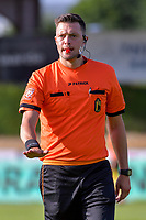 referee Kenneth Dhont pictured during a friendly soccer game between KSV Oudenaarde and KV Kortrijk during the preparations for the 2021-2022 season , on Friday 16th of June 2021 in Oudenaarde , Belgium . PHOTO STIJN AUDOOREN | SPORTPIX