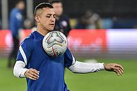 2nd July 2021; Nilton Santos Stadium, Rio de Janeiro, Brazil; Copa America, Brazil versus Chile; Alexis Sánchez of Chile warms up before the match