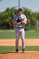 Detroit Tigers Kory Behenna (54) during a Minor League Spring Training game against the Toronto Blue Jays on March 22, 2019 at the TigerTown Complex in Lakeland, Florida.  (Mike Janes/Four Seam Images)