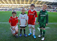 ATTENTION SPORTS PICTURE DESK<br /> Pictured: Swansea City mascots <br /> Re: Coca Cola Championship, Swansea City Football Club v Nottingham Forest at the Liberty Stadium, Swansea, south Wales. Saturday 12 December 2009