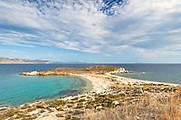 The beach Kolona at Paximada of Karystos in Evia, Greece