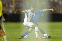 SAN SALVADOR, EL SALVADOR - SEPTEMBER 2: DeAndre Yedlin #22 of the United States battle for a ball during a game between El Salvador and USMNT at Estadio Cuscatlán on September 2, 2021 in San Salvador, El Salvador.