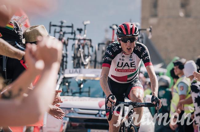 """Daniel Martin (IRE/UAE-Emirates) coming through """"Dutch Corner"""" (#7) on Alpe d'Huez<br /> <br /> Stage 12: Bourg-Saint-Maurice / Les Arcs > Alpe d'Huez (175km)<br /> <br /> 105th Tour de France 2018<br /> ©kramon"""