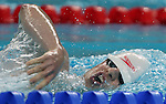Donovan Tildesley of Vancouver swims to the bronze medal in men's 400 metre freestyle, class S11, in the swimming finals at the Paralympic Games in Beijing, Thursday, Sept., 11, 2008.  CPC-Mike Ridewood