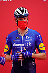 Sam Bennett (IRL) Deceuninck-Quick Step at sign on before the start of Stage 5 of the 2021 UAE Tour running 170km from Fujairah to Jebel Jais, Fujairah, UAE. 25th February 2021.  <br /> Picture: Eoin Clarke   Cyclefile<br /> <br /> All photos usage must carry mandatory copyright credit (© Cyclefile   Eoin Clarke)