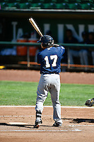 Nathan Rodriguez (17) of the Helena Brewers at bat against the Ogden Raptors in Pioneer League action at Lindquist Field on July 16, 2016 in Ogden, Utah. Ogden defeated Helena 5-4. (Stephen Smith/Four Seam Images)