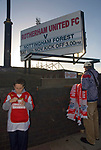 Rotherham 1 Nottingham Forest 1, 18th November 2006. Near neighbours Rotherham and Forest are divided by politics as well as sport. During the 1984-85 miners strike, South Yorkshire was solidly behind the industrial action, while Nottinghamshire miners were less convinced. The insult 'Scab' is still heard in this fixture. Forest eequalised in the 88th minute. They finished the season in fourth, losing in the play off semi final to Yoevil Town. With a 0-2 lead from the away leg Forest conceded an 82nd minute equaliser, before losing 2-5 after extra time.