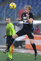 Morten Thorsby of UC Sampdoria in action during the Serie A football match between AS Roma and UC Sampdoria at Olimpico stadium in Roma (Italy), January 3rd, 2021. Photo Andrea Staccioli / Insidefoto