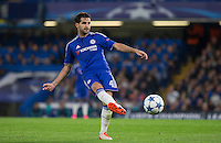 Cesc Fabregas of Chelsea plays a pass during the UEFA Champions League match between Chelsea and Maccabi Tel Aviv at Stamford Bridge, London, England on 16 September 2015. Photo by Andy Rowland.