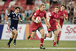 Harry Jones of Canada runs with the ball during the match United States vs Canada, the Cup Final of the HSBC Singapore Rugby Sevens as part of the World Rugby HSBC World Rugby Sevens Series 2016-17 at the National Stadium on 16 April 2017 in Singapore. Photo by Victor Fraile / Power Sport Images