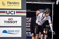 Max Walscheid (DEU/Qhubeka NextHash) on the start ramp<br /> <br /> Men Elite Individual Time Trial <br /> from Knokke-Heist to Bruges (43.3 km)<br /> <br /> UCI Road World Championships - Flanders Belgium 2021<br /> <br /> ©kramon