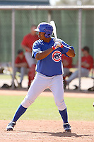 Nelson Perez, Chicago Cubs 2010 minor league spring training..Photo by:  Bill Mitchell/Four Seam Images.